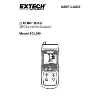 Extech SDL100 pH, ORP & Temperature Datalogger - User Manual