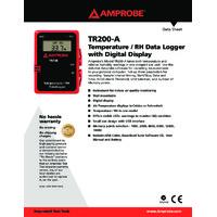 Data Logger,Temperature,-40 to 185 F AMPROBE TR100-A