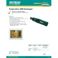Extech TH10 Temperature USB Datalogger - Datasheet