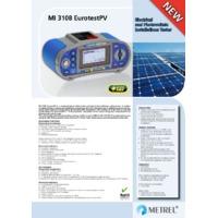 Metrel MI3108PR Eurotest Pro - Datasheet