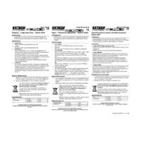 Extech 44550 Pocket Humidity & Temperature Pen - User Manual