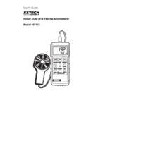 Extech 407113 Vane Anemometer - User Manual