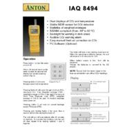 Anton IAQ 8494 CO2 Detector - Datasheet
