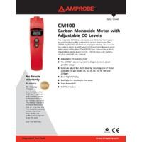 Amprobe CM100 Carbon Monoxide Meter - Datasheet