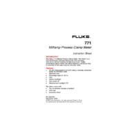 Fluke 771 Instruction Manual