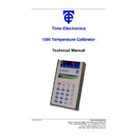 Time Electronics 1090 Portable Process Calibrator - User Manual