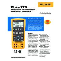 Fluke 726 Precision Multifunction Process Calibrator - Datasheet