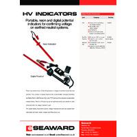 Seaward High Voltage Indicators - Datasheet