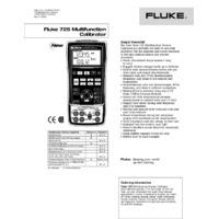 Fluke 725 Multifunction Process Calibrator - Datasheet