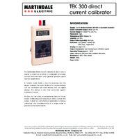 Martindale TEK300 20mA Loop Calibrator - Datasheet