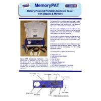 First Stop Safety MemoryPAT PAT Tester - Datasheet