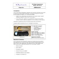 Metrohm E45 Phase Comparators - Datasheet