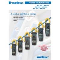 Chauvin Arnoux MX Series Clamp Meters - Datasheet