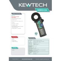 Kewtech KEW2434 Earth Leakage Clamp Meter - Datasheet