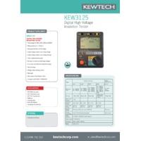 Kewtech KEW3125 Insulation Tester - Datasheet