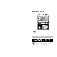 Kewtech KEW3125 Insulation Tester - User Manual