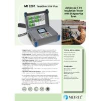 Metrel MI3201 TeraOhm 5kV Plus Insulation Tester - Datasheet