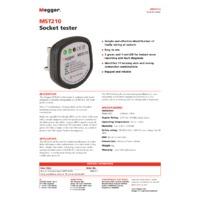 Megger MST210 Socket Tester - Datasheet