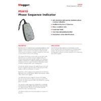 Megger PSI410 Phase Rotation Tester - Datasheet