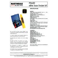 Martindale FD650 Digital Fuse Finder Kit - Datasheet