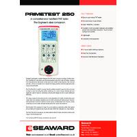 Seaward PrimeTest 250 PAT Tester - Datasheet