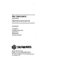 Seaward PAT Checkbox - Operating Instructions
