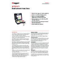 Megger MTB7671 Calibration Test Box - Datasheet
