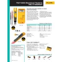 Fluke T5-1000 Voltage, Continuity & Current Tester - Datasheet