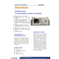 Siglent SDG830 Arbitrary Function Generator - Datasheet