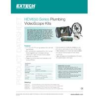 Extech HDV650 HD Plumbing Videoscope - Datasheet