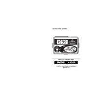 Kewtech KEW4105A Digital Earth Resistance Tester - User Manual
