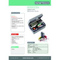 Kewtech KEW4105A Digital Earth Resistance Tester - Datasheet