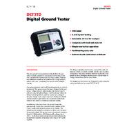 Megger DET3TD Earth Tester - Datasheet