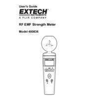 Extech 480836 RF EMF Strength Meter - User Manual