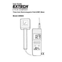 Extech 480826 Triple Axis EMF Tester - User Manual