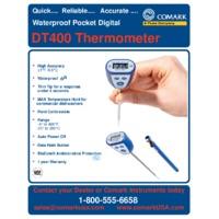 Comark DT400 Waterproof Digital Thermometer - Datasheet