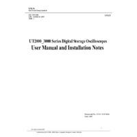 UNI-T UTD2000 & UTD3000 Series Oscilloscopes - User Manual