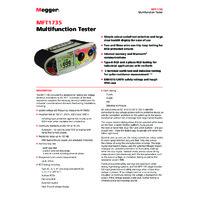Megger MFT1735-BS Multifunction Tester - Datasheet