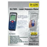 DiLog DL7205 Laser Distance Meter - Datasheet