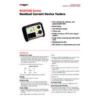 Megger RCDT320 RCD Tester - Datasheet