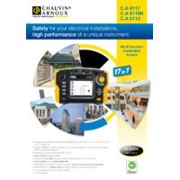 Chauvin Arnoux CA6117 Multifunction Tester - Datasheet