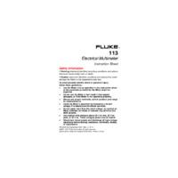 Fluke 113 Digital Multimeter - User Manual