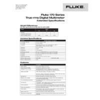 Fluke 179 Digital Multimeter - Datasheet