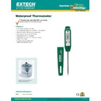 Extech 39240 Waterproof Stem Thermometer - Datasheet