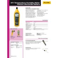 Fluke 971 Temperature Humidity Meter - Datasheet