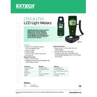 Extech LT45 Colour LED Light Meter - Datasheet
