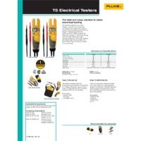 Fluke T5-600 Voltage, Continuity & Current Tester - Datasheet