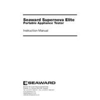 Seaward Supernova Elite PAT Tester - User Manual