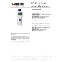 Martindale CO90 Carbon Monoxide Detector - Datasheet