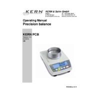 Kern PCB Series Balance - Operating Instructions